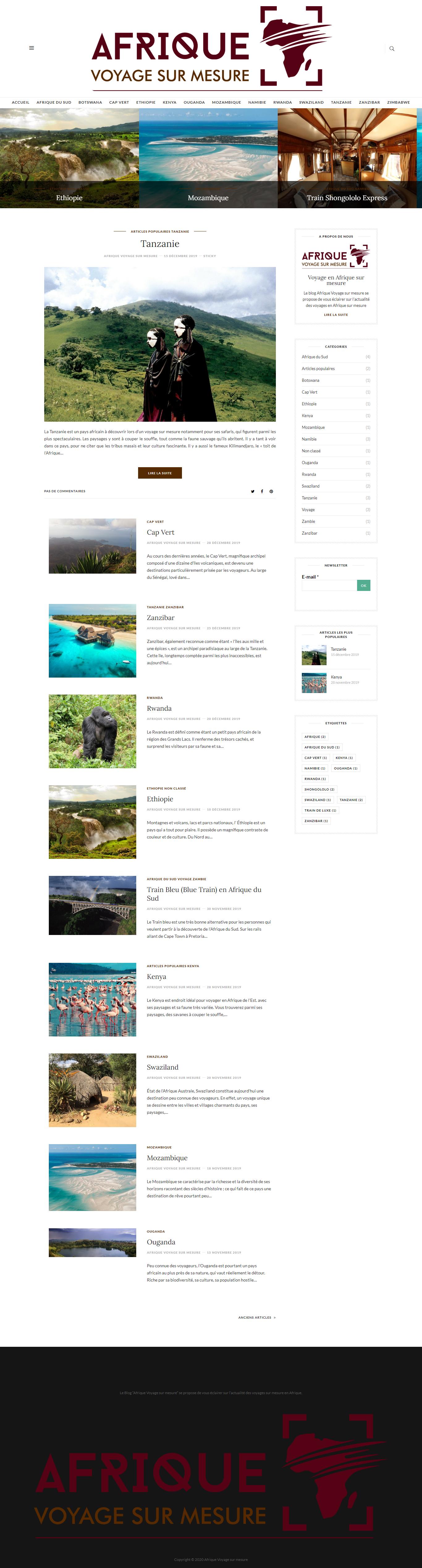 Blog Afrique Voyage sur mesure