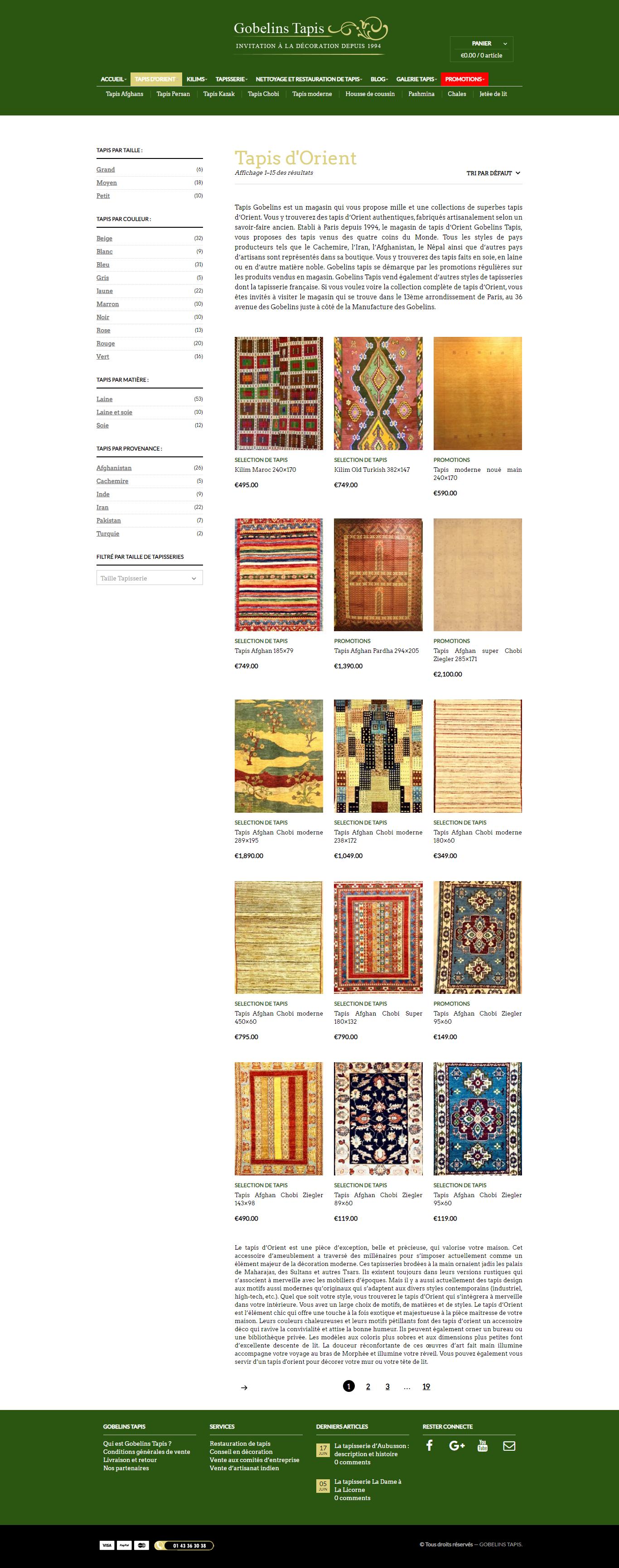 Galerie Tapis Gobelins-tapis.com