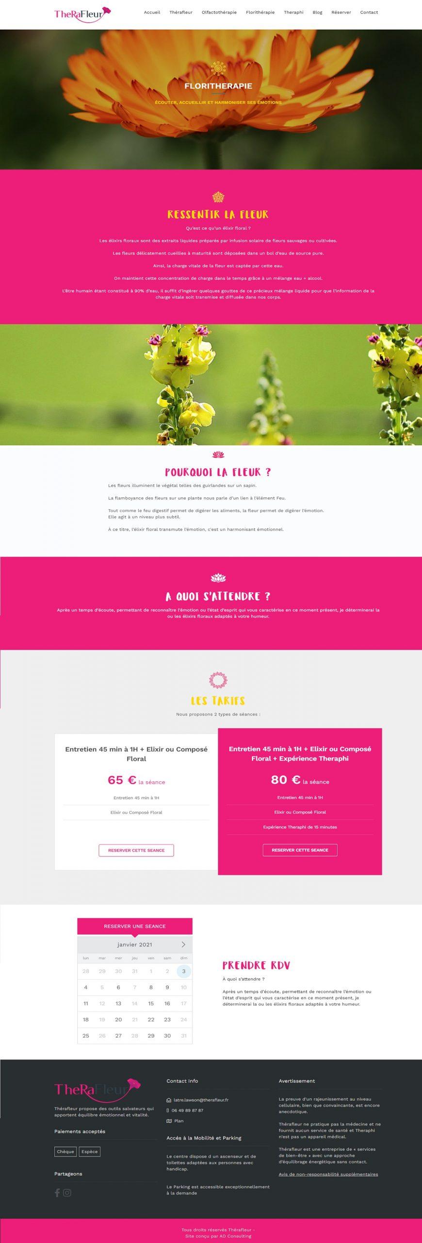 Page Florithérapie – Therafleur