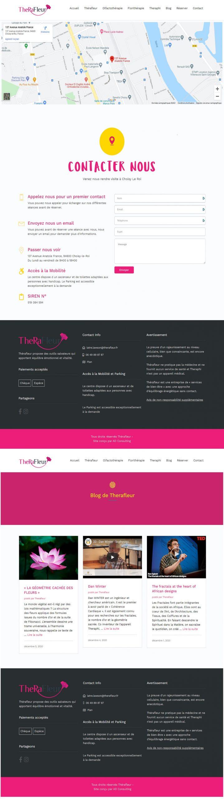Therafleur Contact et Blog